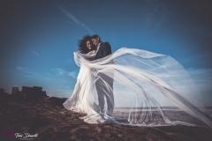 novia velo al viento