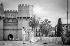 Preboda en el centro de Valencia