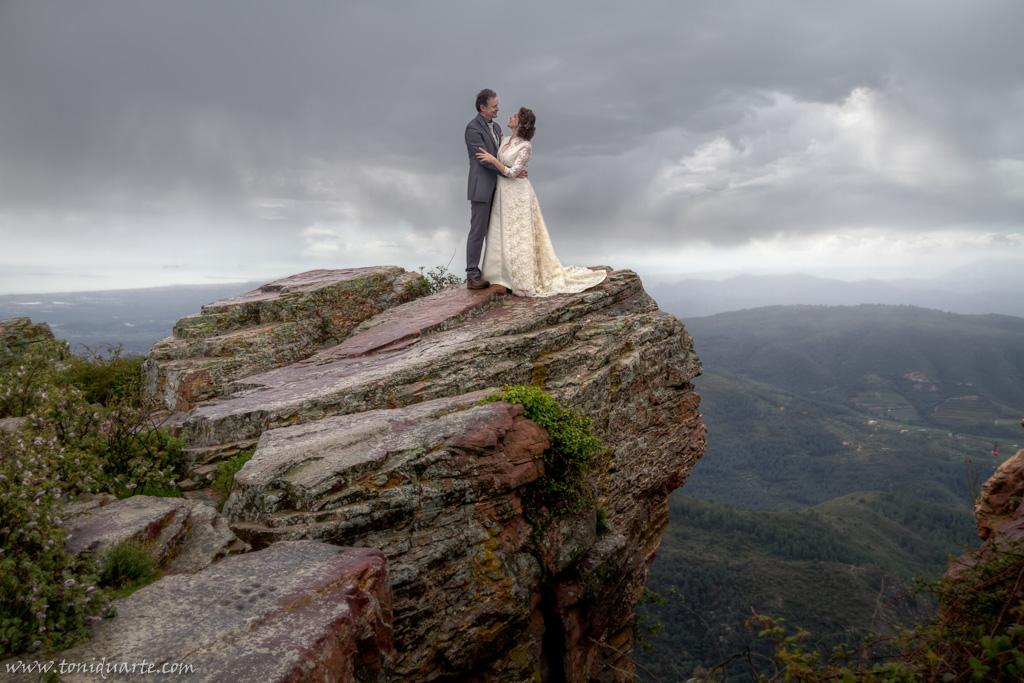 Postboda en la montaña